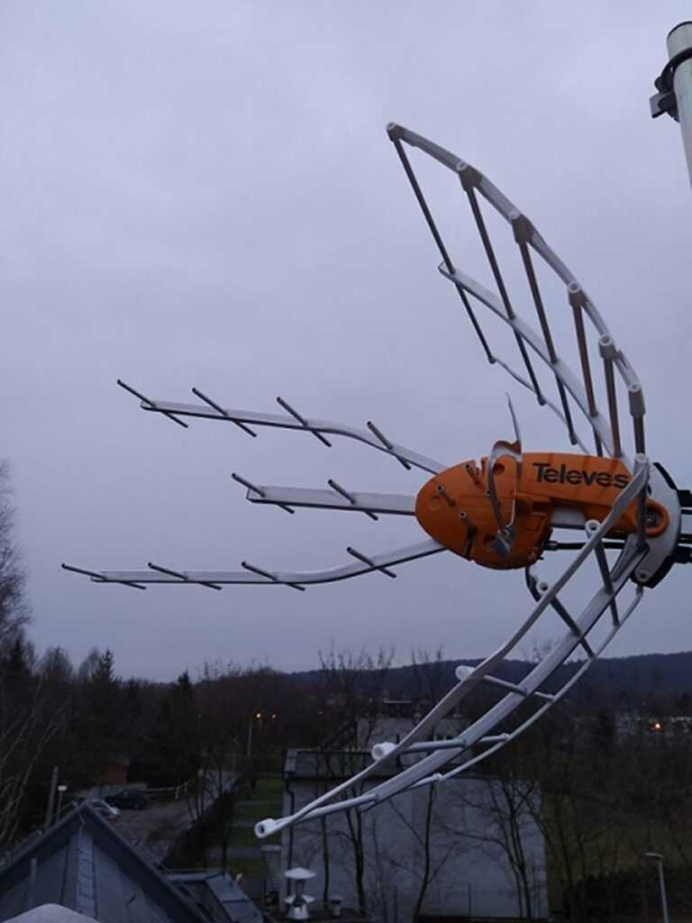montaz anteny naziemnej cyfrowej dvb-t
