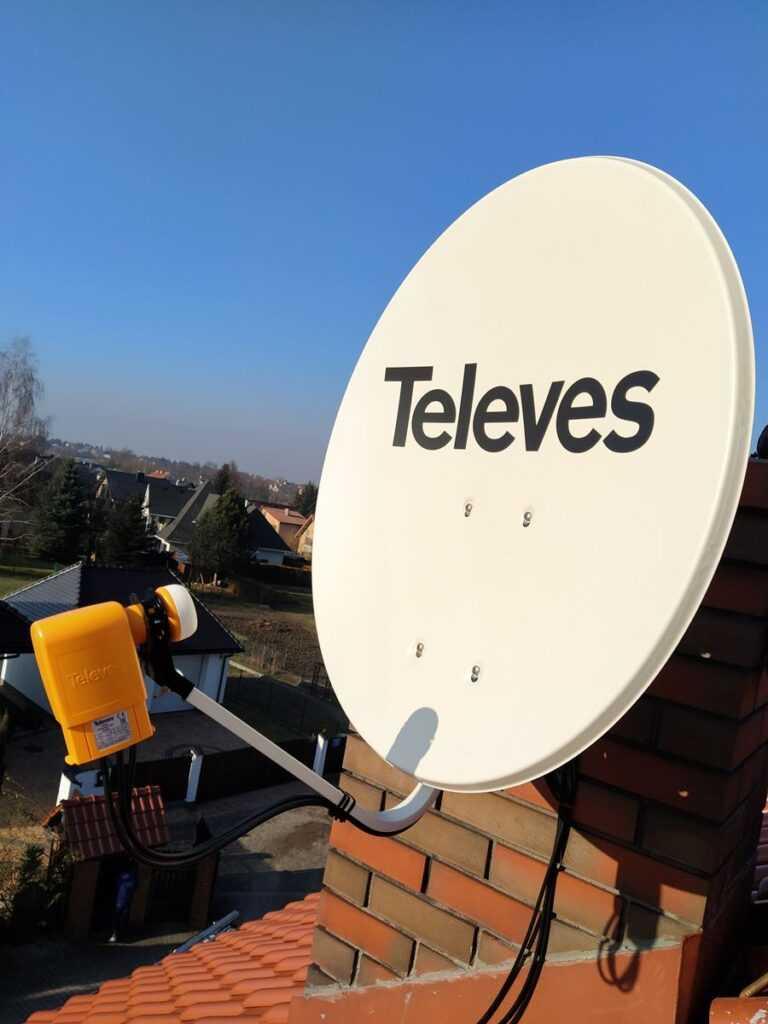 ustawienie anten satelitarnych